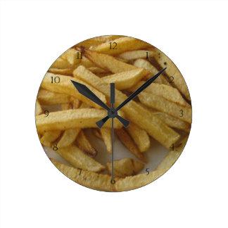 Pommes-FritesWanduhr Runde Wanduhr
