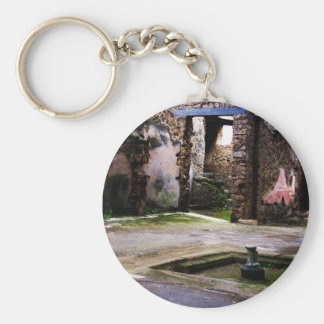Pompeji - inneres Gericht alten Pompeiian Hauses Schlüsselanhänger