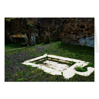 Pompeji - Marmorbrunnen im Garten eines Landhauses Karte