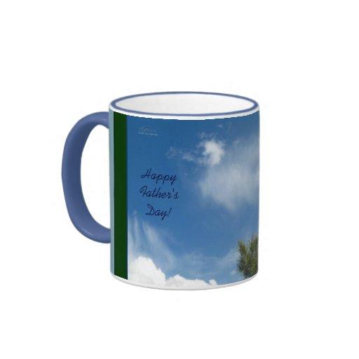 Ponderosa Kiefer in der Wolken-Vatertags-Tasse