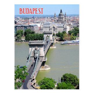 Pont à chaînes au-dessus de rivière Danube, Cartes Postales