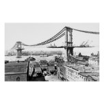 Pont de Manhattan de bâtiment Affiches