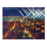 Pont en Baie de San Franciso et lumières de flotte Cartes Postales