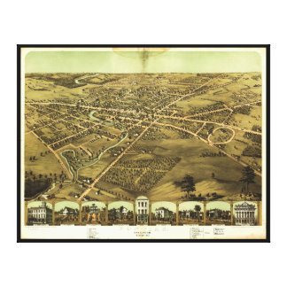 Pontiac Oakland County Michigan (1867) Leinwand Druck