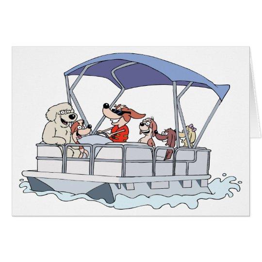Ponton-Boot Grußkarte