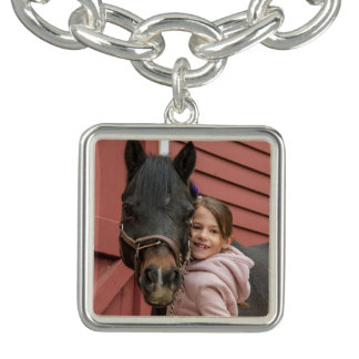Pony-Charme-Armband - B Charm Armband