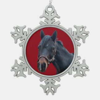 Pony-Schneeflocke-Verzierung Schneeflocken Zinn-Ornament