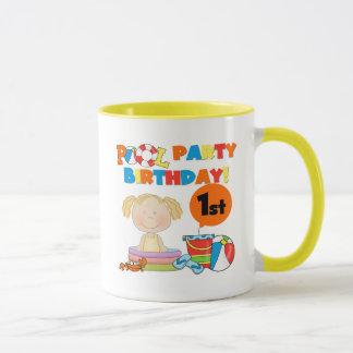 Pool-Party-1. Geburtstags-T - Shirts und Geschenke Tasse
