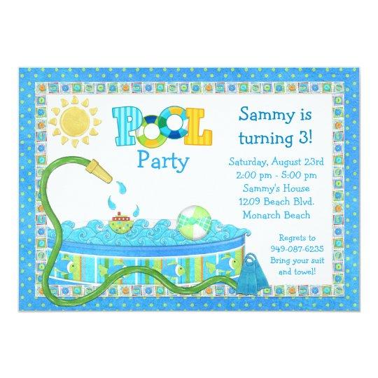 Pool Party Kindergeburtstag Party Einladung | Zazzle.ch, Kreative  Einladungen