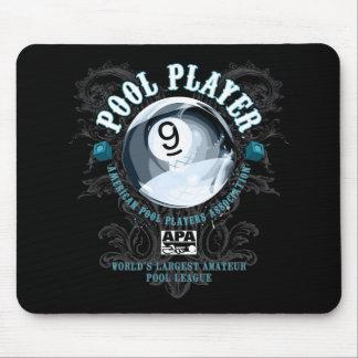 Pool-Spieler mit Filigran geschmücktes 9-Ball Mauspad