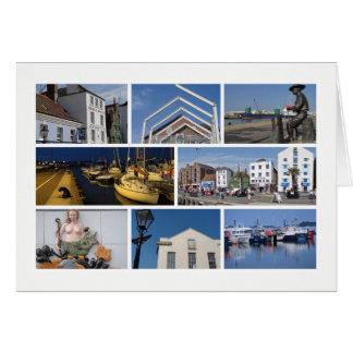Poole Multibild Grußkarte