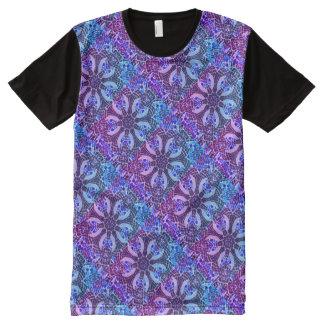 Poolside-Kaleidoskop - schönes cooles Mosaik T-Shirt Mit Bedruckbarer Vorderseite