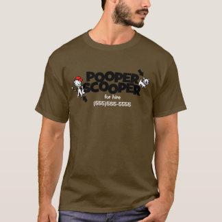 Pooper Scooper förderndes T-Shirt Geschäfts
