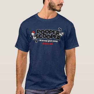 Pooper Scooper.Pet überschüssiges T-Shirt