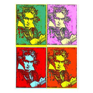 Pop-Art Beethoven Postkarte