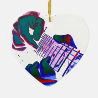 Pop Art Guitar Tapping Keramik Ornament
