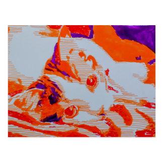 Pop Art Katze Postkarte