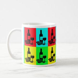 Pop-Art-Wein und Trauben-Kunst-Geschenke Tasse