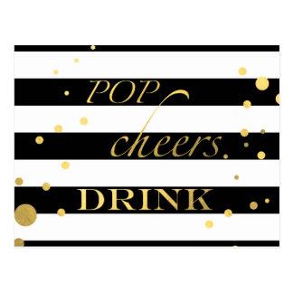 Pop-Beifall-Getränk Postkarte