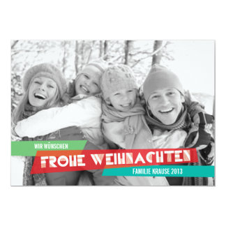 Pop der Farbe Weihnachtskarte Karte