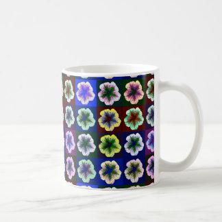 Pop geht Petunie-Pop-Kunst-Tasse Tasse