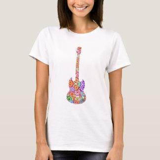 Pop kreist Gitarren-Logo ein T-Shirt