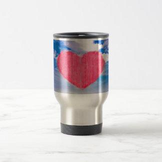 Pop-Kunst-Art-Liebe-Konzept Edelstahl Thermotasse