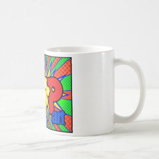Pop-Kunst Daves Weiss Kaffeetasse