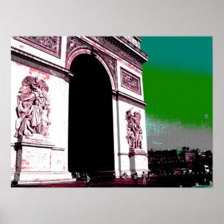 Pop-Kunst der Arc de Triomphe Poster