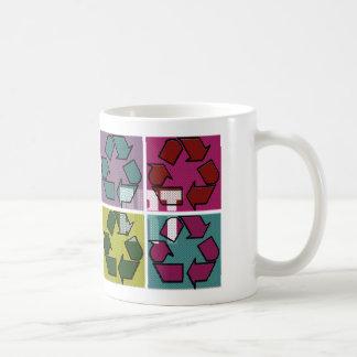 Pop-Kunst, die Tasse recycelt