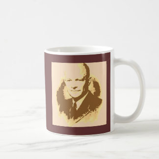 Pop-Kunst Dwight D Eisenhower Kaffeetasse