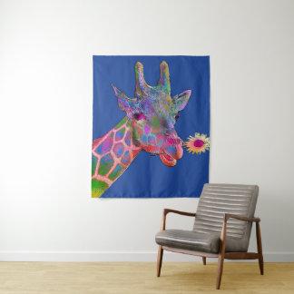 Pop-Kunst-Giraffe Wandteppich