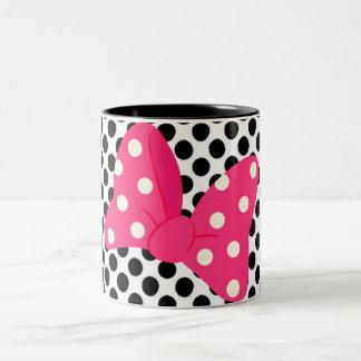 Pop-Kunst-Girly Kissen Zweifarbige Tasse
