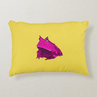 Pop-Kunst-horniger Frosch-Kissen Dekokissen