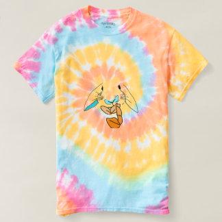 Pop-Kunst-hungriges Kaninchen-Krawatten-T-Stück T-shirt
