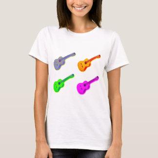 Pop-Kunst-klassische spanische Gitarre T-Shirt