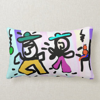 Pop-Kunst-Malerei-Tanzen! Kissen