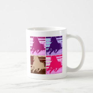 Pop-Kunst-Pferde Tasse