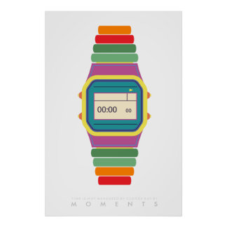 Pop-Kunst-Plakat-70er-80er | der Uhr-Uhr-| Retro Poster
