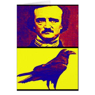 Pop-Kunst Poe und Rabe Karte