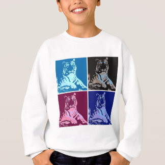 Pop-Kunst-Tiger Sweatshirt