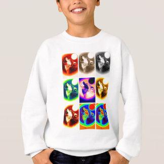 Pop-Kunst-Wolf Sweatshirt