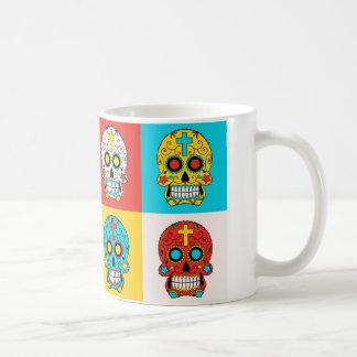 Pop-Kunst Zuckerschädel-Tasse Tasse