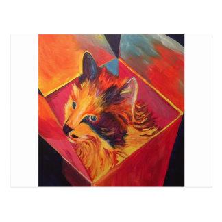 POP-KUNSTbunter CAT Postkarte