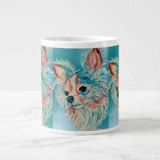 Pop-Kunstlanghaarige Chihuahua-Tasse Jumbo-Tasse