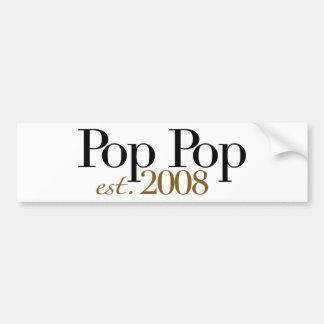Pop-Pop Est 2008 Autoaufkleber