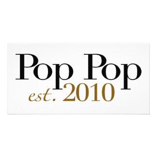 Pop-Pop Est 2010 Individuelle Foto Karte