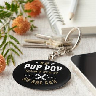 Pop-Pop kann es regeln Schlüsselanhänger