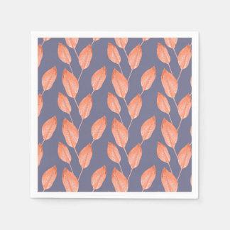 Pop-tropisches Blätter-nahtlose Muster-Reihe 2 Serviette