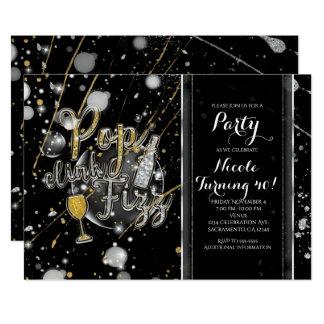 POPCLINKFIZZ Champagne-Blasen-Party Einladungen